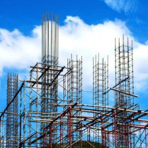 Corte e dobra de aço para construção civil